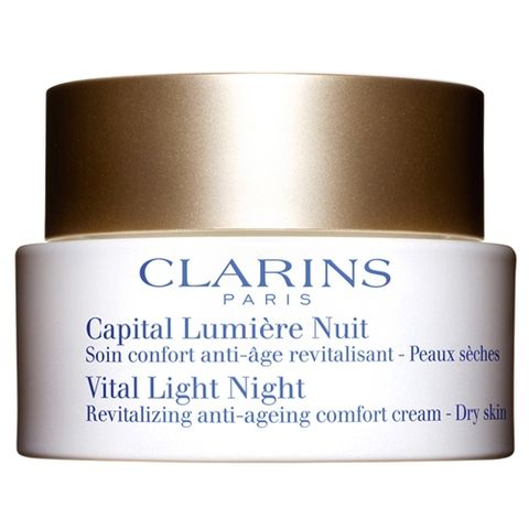 Clarins Vital Light Night Revitalizing Anti-Ageing Comfort Cream Dry Skin i gruppen  hos Hudotekets Webshop (20118 000-6)