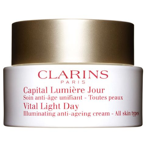 Clarins Vital Light Day Illuminating Anti-Ageing Cream All Skin Types i gruppen Ansikte / Dagcreme / Mogen hud hos Hudotekets Webshop (20120000)