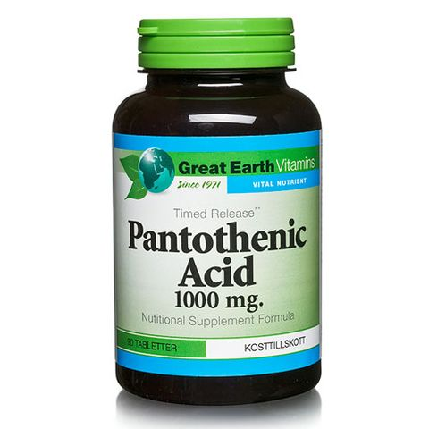 Great Earth Vitamins Pantothenic Acid i gruppen Kropp / Kosttillskott / Hud hos Hudotekets Webshop (5686)