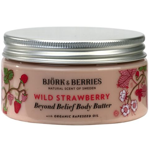 Bj�rk&Berries Wild Strawberry Beyond Belief Body Butter i gruppen Kropp / Creme & Lotion hos Hudotekets Webshop (HO202)