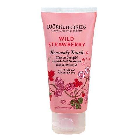 Bj�rk&Berries Wild Strawberry Heavenly Touch Hand & Nail Treatment i gruppen Kropp / H�nder & f�tter / Nagelv�rd hos Hudotekets Webshop (HO281)