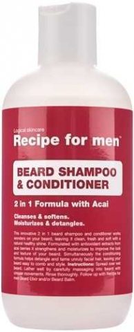 Recipe for men Beard Shampoo & Conditioner i gruppen Eko & vegan / Vegansk hårvård hos Hudotekets Webshop (R051)