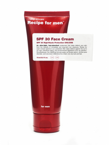 Recipe for men SPF 30 Face Cream i gruppen Man / Ansiktscreme hos Hudotekets Webshop (R053)