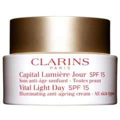 Clarins Vital Light Day Illuminating Anti-Ageing Cream All Skin Types SPF 15