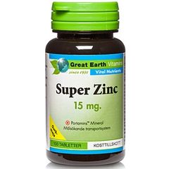 Great Earth Vitamins Super Zinc 15 mg