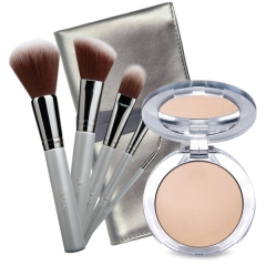 PÜR Pro Tools Brush Kit & Pürminerals 4-in-1 Pressed Mineral Makeup