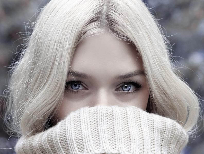 Vintrar, Kvinna, Titta, Blond, Vacker Kvinna, Skönhet